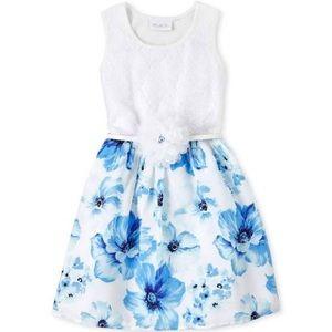 5T- Blue Floral Dress